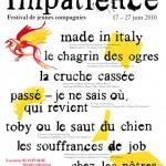 Festival Impatience, 2e édition à l'Odéon // 17-27.06.10