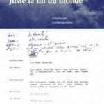 Lecture. « Juste la fin du monde  » Jean-Luc Lagarce chez Les Solitaires Intempestifs