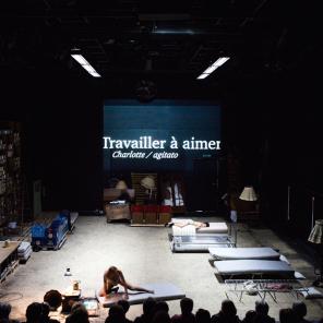 Les Palmiers Sauvages d'après William Faulkner mise en scène de Séverine Chavrier, aux ateliers Berthier.