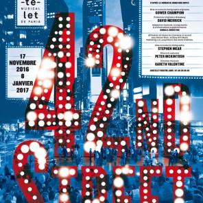 42nd Street, livret de Michael Stewart et Mark Bramble, mise en scène de Steven Mear, au Théâtre du Châtelet