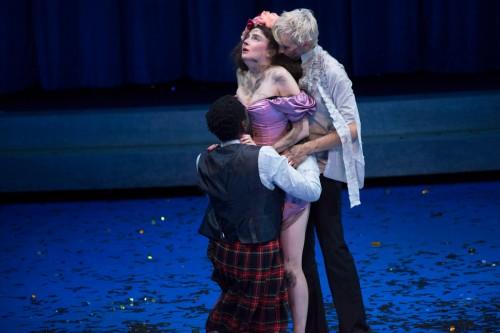 """2016-17 Comédie de Reims """" Songe et Métamorphoses """" inspiré d'Ovide_ Songe d'une Nuit d'Été de William Shakespeare mise en scène Fabrice Melquiot AVEC ELSA AGNÈS, CANDICE BOUCHET, ÉMILIE INCERTI FORMENTINI, ELSA GUEDJ, FLORENCE JANAS, HECTOR MANUEL, ESTELLE MEYER, ALEXANDRE MICHEL, PHILIPPE ORIVEL, MAKITA SAMBA, KYOKO TAKENAKA, CHARLES VAN DE VYVER, GERARD WATKINS, CHARLES-HENRI WOLFF ET LA PARTICIPATION DE LUCIE DURAND, JANE PIOT ET MURIEL VALAT ET DE QUATRE ENFANTS DRAMATURGIE MARION STOUFFLET - SCÉNOGRAPHIE FRANÇOIS GAUTHIER-LAFAYE EN COLLABORATION AVEC JAMES BRANDILY - LUMIÈRES NIKO JOUBERT EN COLLABORATION AVEC CÉSAR GODEFROY – COMPOSITION MUSICALE OLIVIER PASQUET ET PHILIPPE ORIVEL - SON GÉRALDINE FOUCAULT EN COLLABORATION AVEC FLORENT DALMAS - COSTUMES LUCIE DURAND EN COLLABORATION AVEC ELISABETH CERQUEIRA ET GWENN TILLENON – ASSISTANAT À LA MISE EN SCÈNE JANE PIOT - RÉGIE GÉNÉRALE ET VIDÉO ÉDOUARD TRICHET LESPAGNOL"""