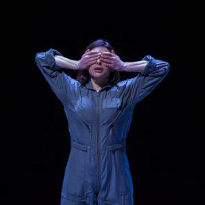 Clouée au sol, de Georges Brant, mise en scène par Gilles David, au Théâtre du Nouveau Ring, Festival d'Avignon Off