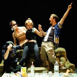 Change me, d'après Ovide, Isaac de Benserade, et la vie de Brandon Teena, mise en scène de Camille Bernon et Simon Bourgade, au Théâtre de la Tempête, Cartoucherie de Vincennes