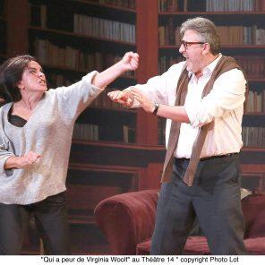 Qui a peur de Virginia Woolf? d'Edward Albee, mise en scène de Panchika Velez, Théâtre 14