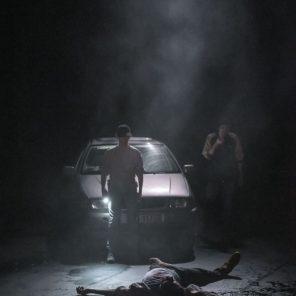 La Reprise, Histoire(s) du théâtre (I), conception et mise en scène de Milo Rau, au Théâtre Nanterre-Amandiers