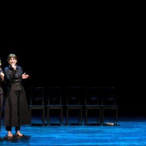 Les couteaux dans le dos, texte et mise en scène de Pierre Notte, Au Théâtre les Déchargeurs