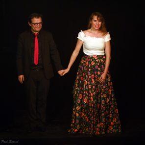 Les amants de Varsovie, textes d'Ewunia Adamusinska-Vouland, mise en scène William Mesguich, Théâtre du Gymnase Marie-Bell