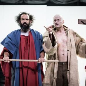 Le Grand Inquisiteur, d'après Fédor Dostoïevski, mise en scène de Sylvain Creuzevault, Odéon-Théâtre de l'Europe / Festival d'Automne à Paris